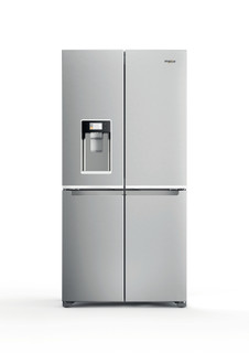 Whirlpool side-by-side amerikansk køleskab: inox-farve - WQ9I HO1X