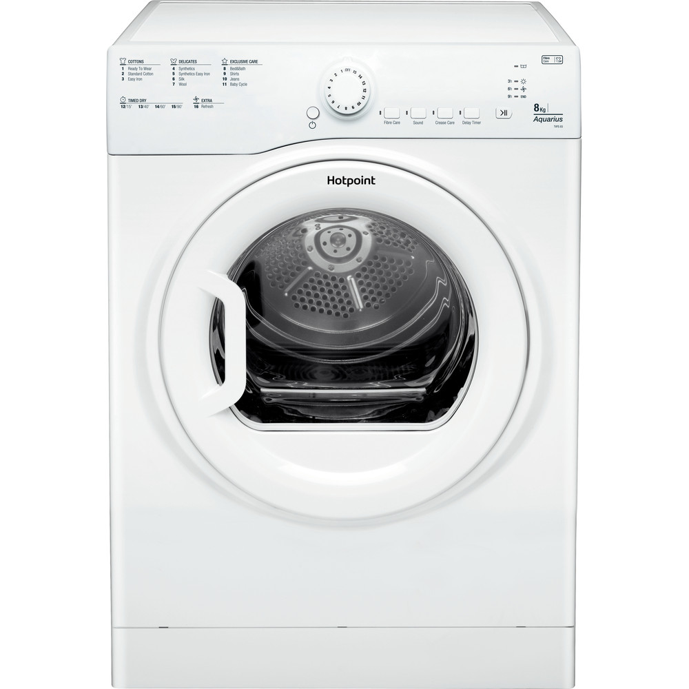 Hotpoint Dryer TVFS 83C GP.9 UK White Frontal