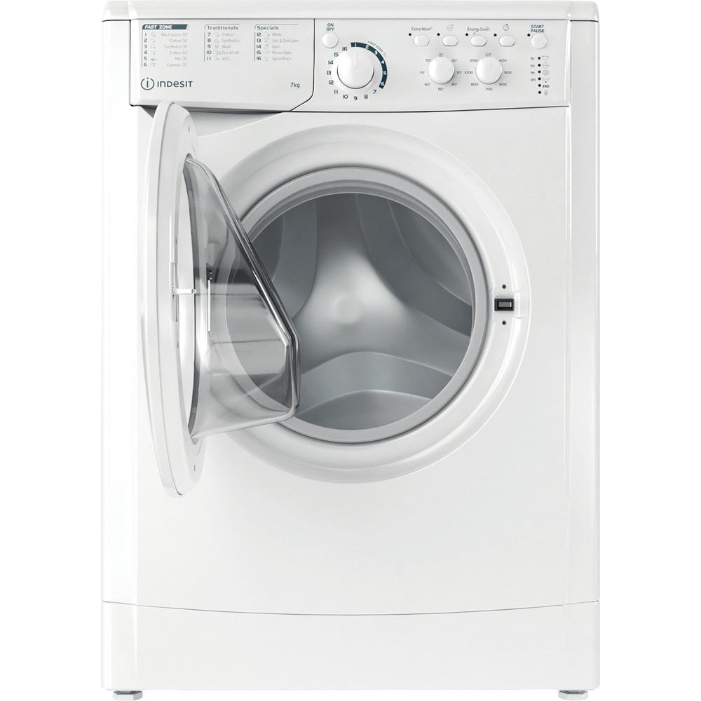 Indesit Перална машина Свободностоящи EWC 71252 W EE N Бял Предно зареждане E Frontal open
