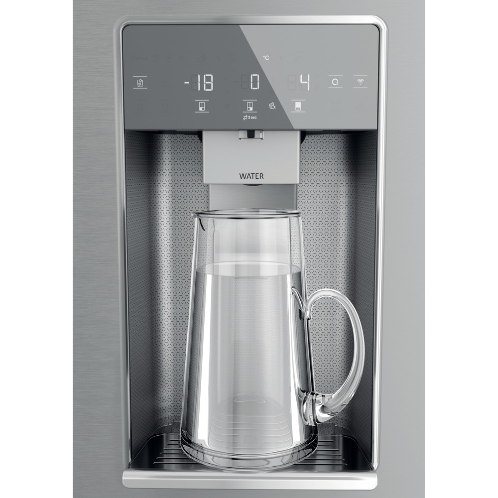 Hotpoint Side-by-Side Free-standing HQ9I MO1L UK Inox Look Frontal