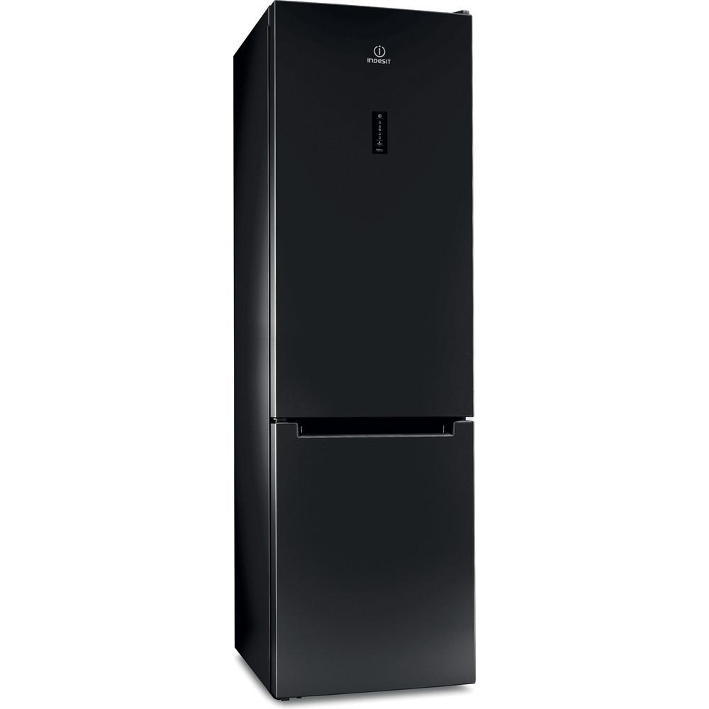 Indesit Холодильник с морозильной камерой Отдельностоящий ITF 120 B Черный 2 doors Perspective