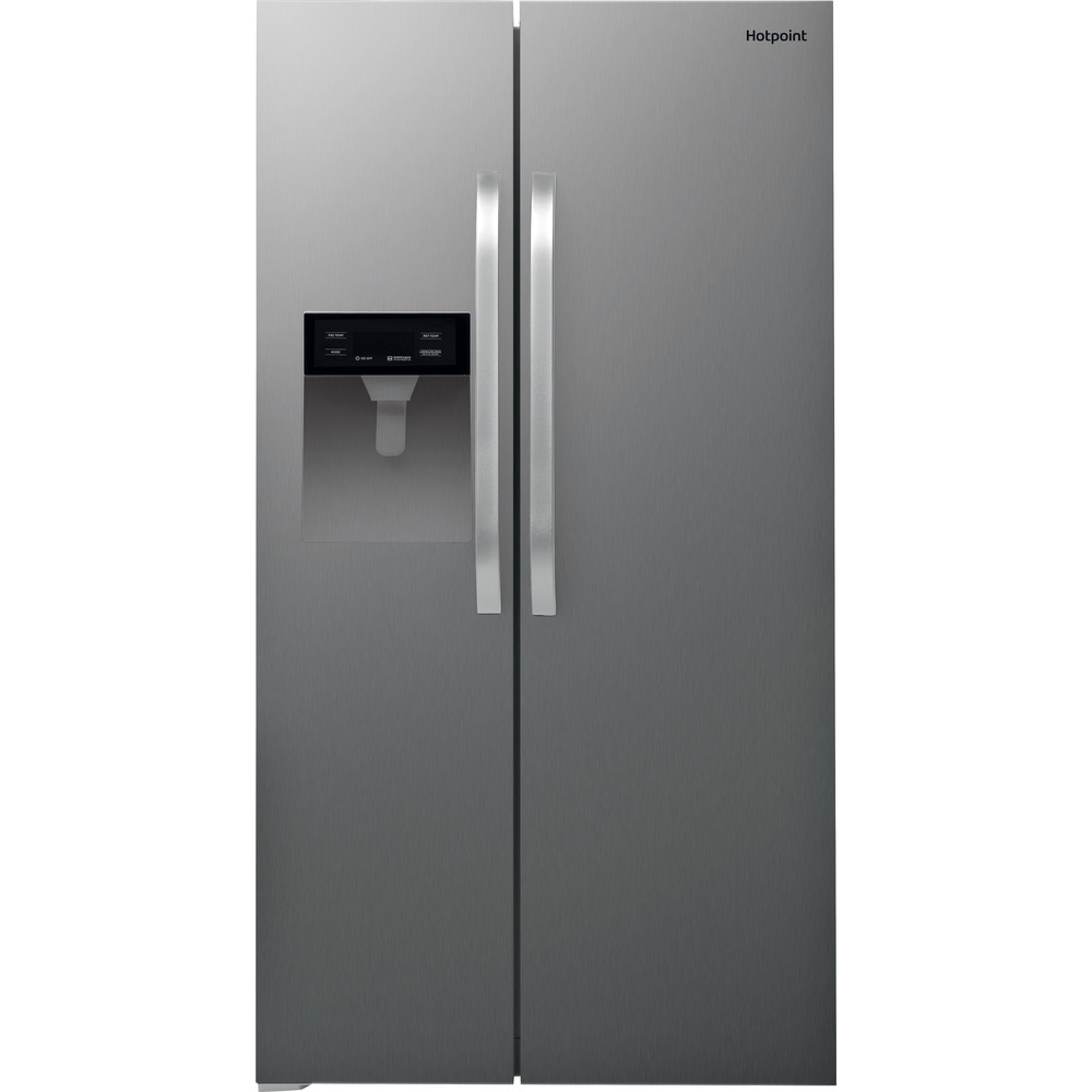 Hotpoint Side-by-Side Free-standing SXBHE 924 WD (UK) 1 Inox Look Frontal