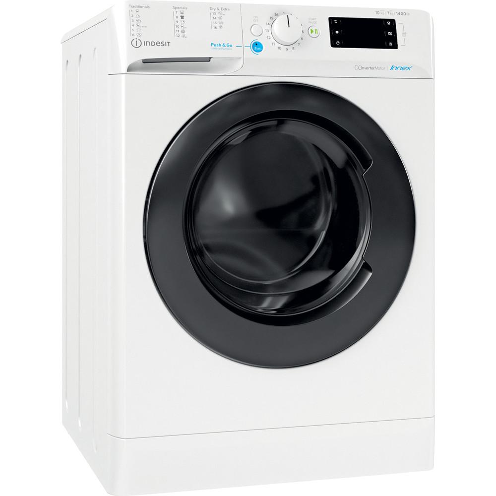 Indesit Tvättmaskin med torktumlare Fristående BDE 1071482X WK EU N White Front loader Perspective