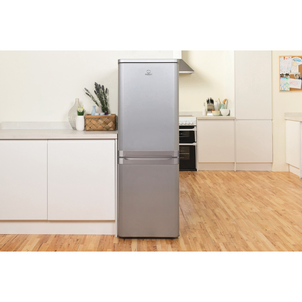 Indesit Fridge-Freezer Combination Free-standing IBD 5515 S 1 Silver 2 doors Lifestyle frontal