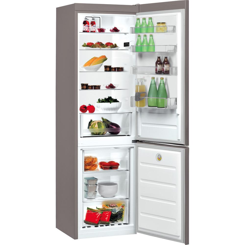 Indesit Combinación de frigorífico / congelador Libre instalación LR9 S2Q F X B Óptica Inox 2 doors Perspective open