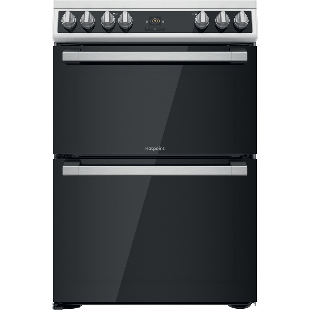 Hotpoint Double Cooker HDT67V9H2CW/UK White A Frontal