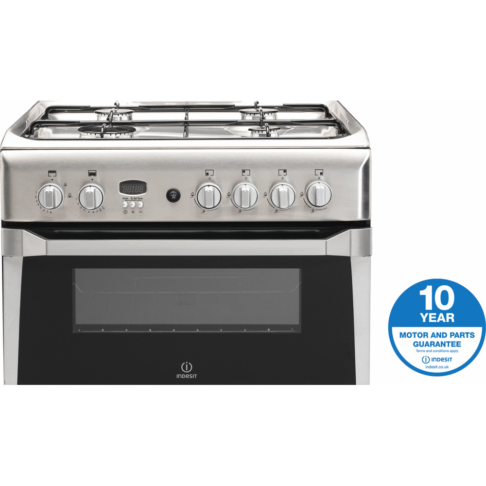 Indesit Double Cooker ID60G2(X) Inox A+ Stainless steel Award