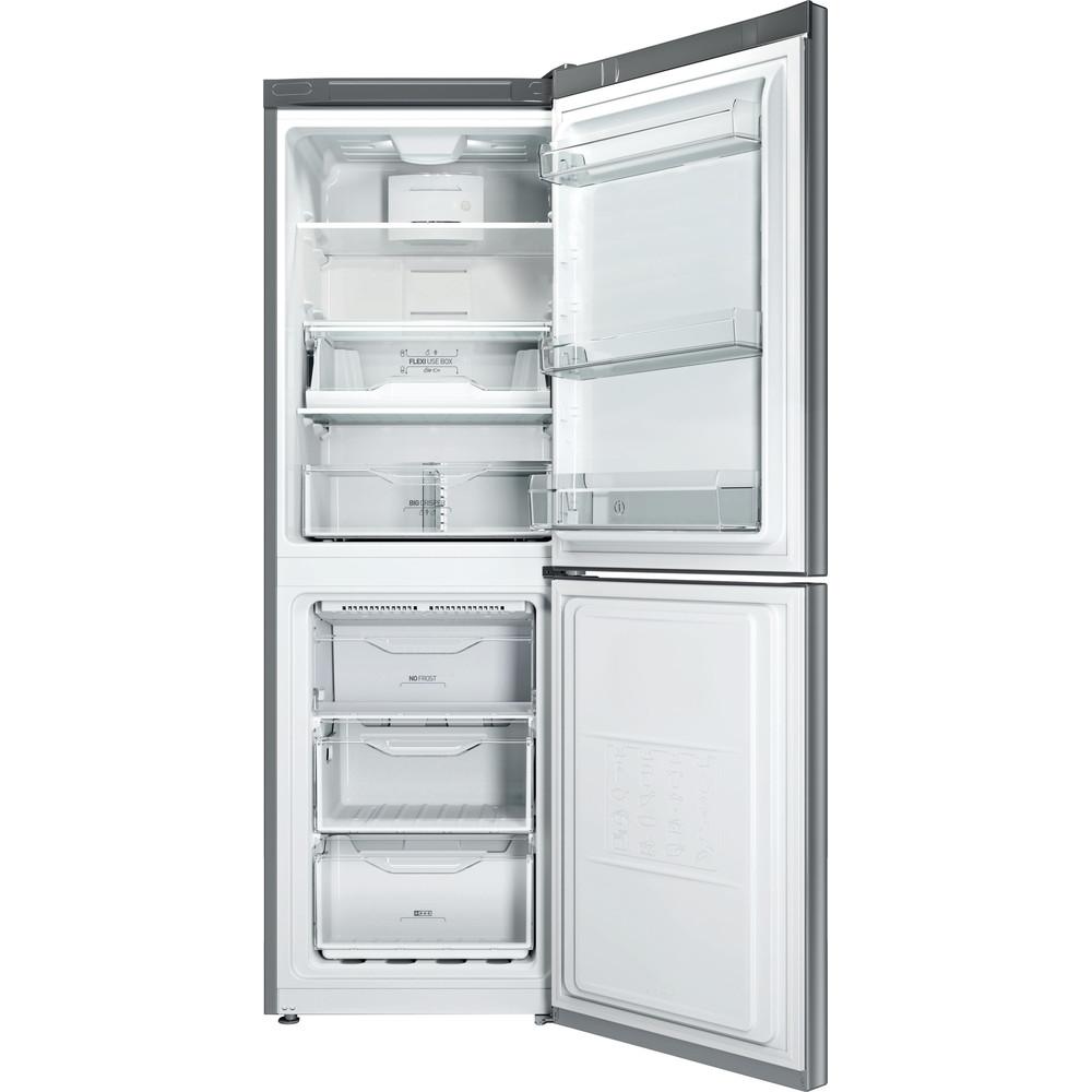 Indesit Combinazione Frigorifero/Congelatore A libera installazione LI70 FF1 X Inox 2 porte Frontal open