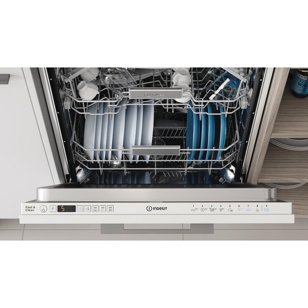 Indesit Vaatwasser Ingebouwd DIO 3T131 A FE Volledig geïntegreerd D Lifestyle control panel
