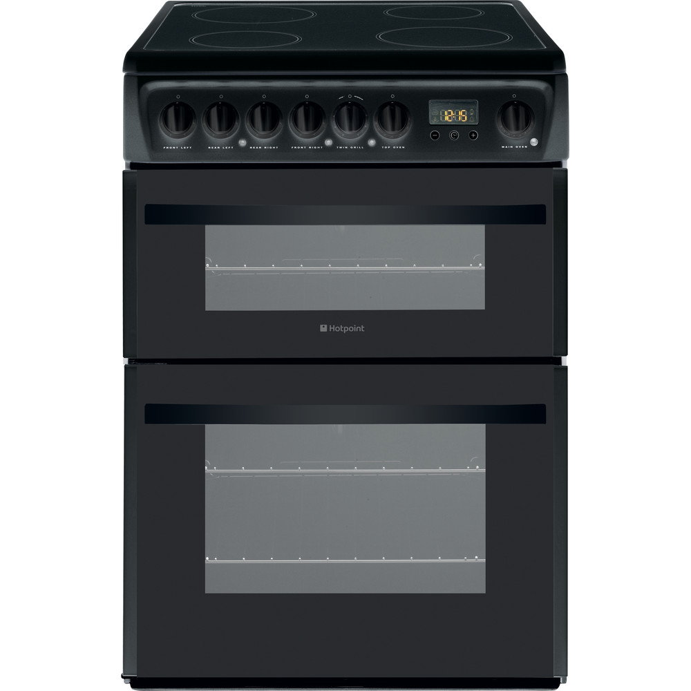 Hotpoint Double Cooker DCN60K Black A Vitroceramic Frontal