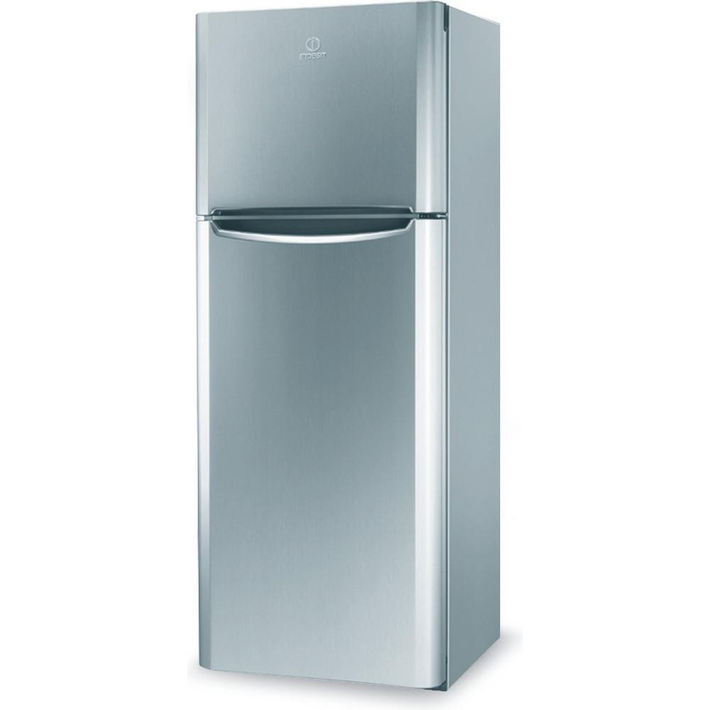 Indesit Combinación de frigorífico / congelador Libre instalación TIAA 10 V SI.1 Plata 2 doors Perspective