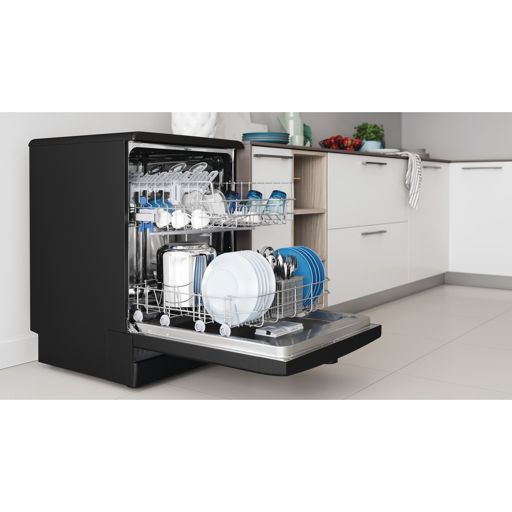 Indesit Dishwasher Free-standing DFE 1B19 B UK Free-standing F Lifestyle perspective open