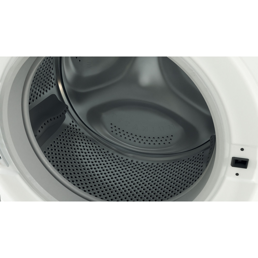 Indesit Washing machine Free-standing BWE 101683X W UK N White Front loader D Drum