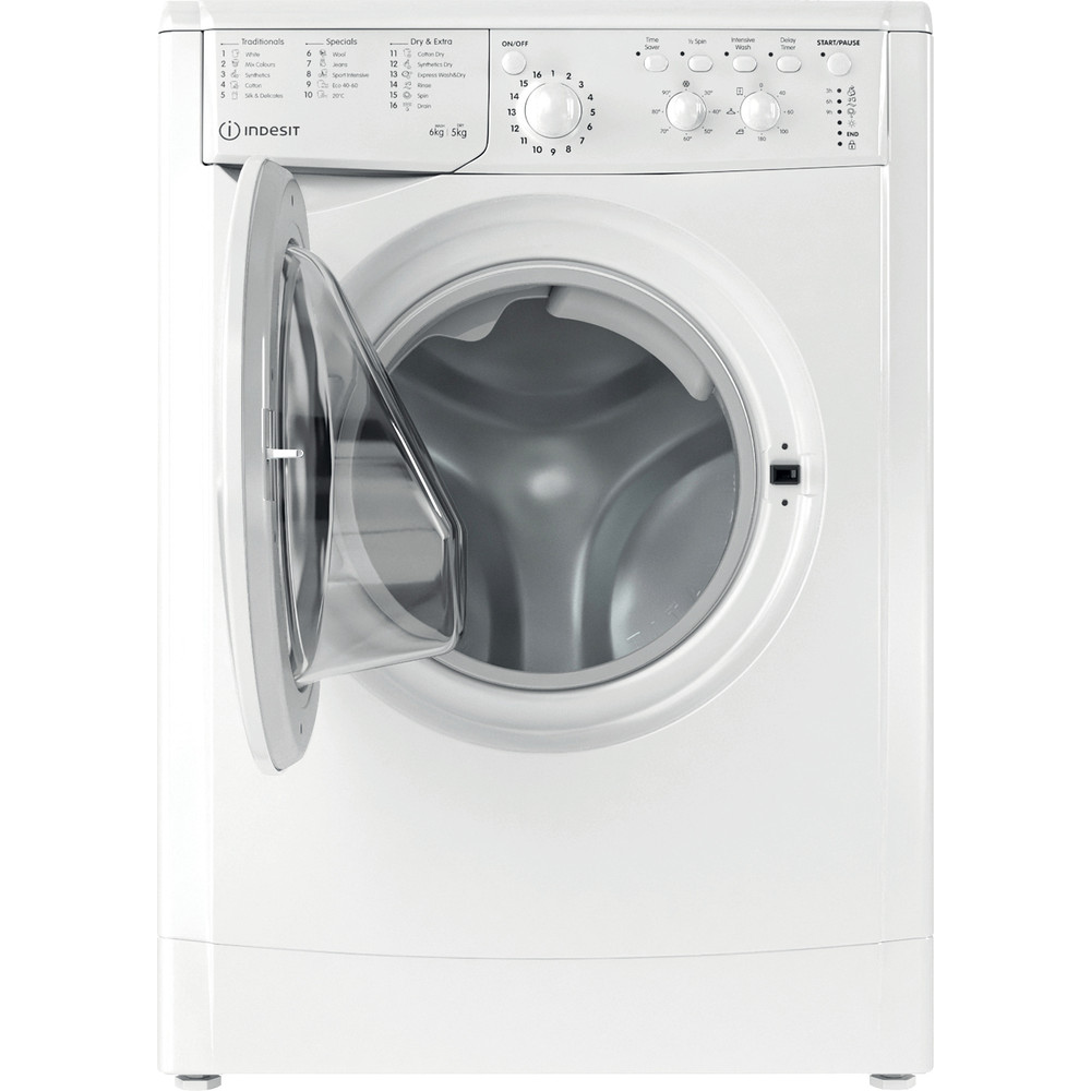 Indesit Washer dryer Free-standing IWDC 65125 UK N White Front loader Frontal open