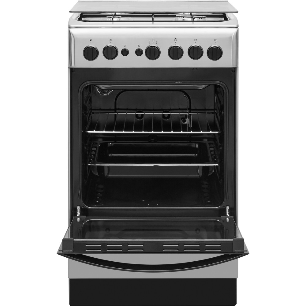Indesit Cocina IS5G1PMX/E Inox Gas Frontal_Open