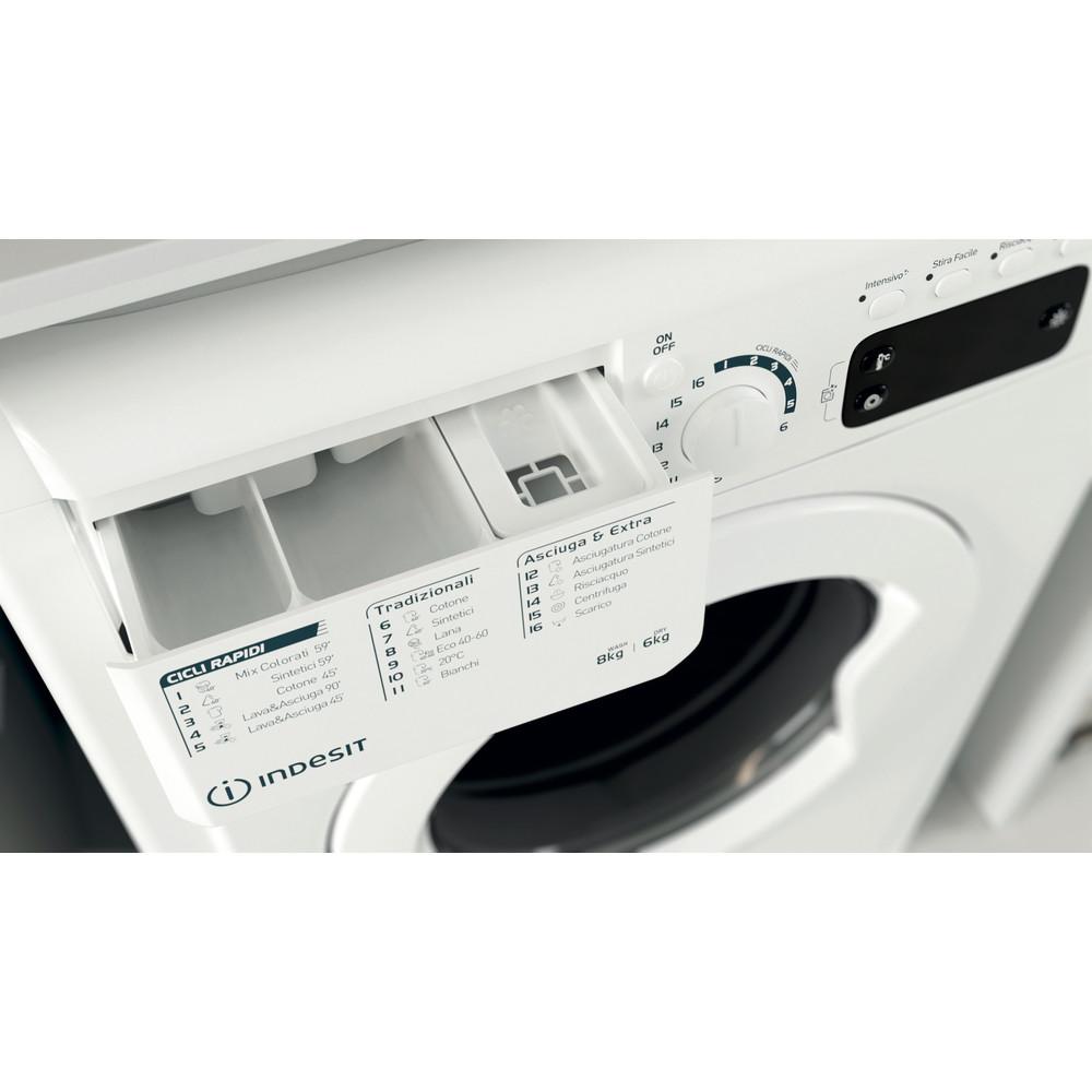 Indesit Lavasciugabiancheria A libera installazione EWDE 861483 W IT N Bianco Carica frontale Drawer