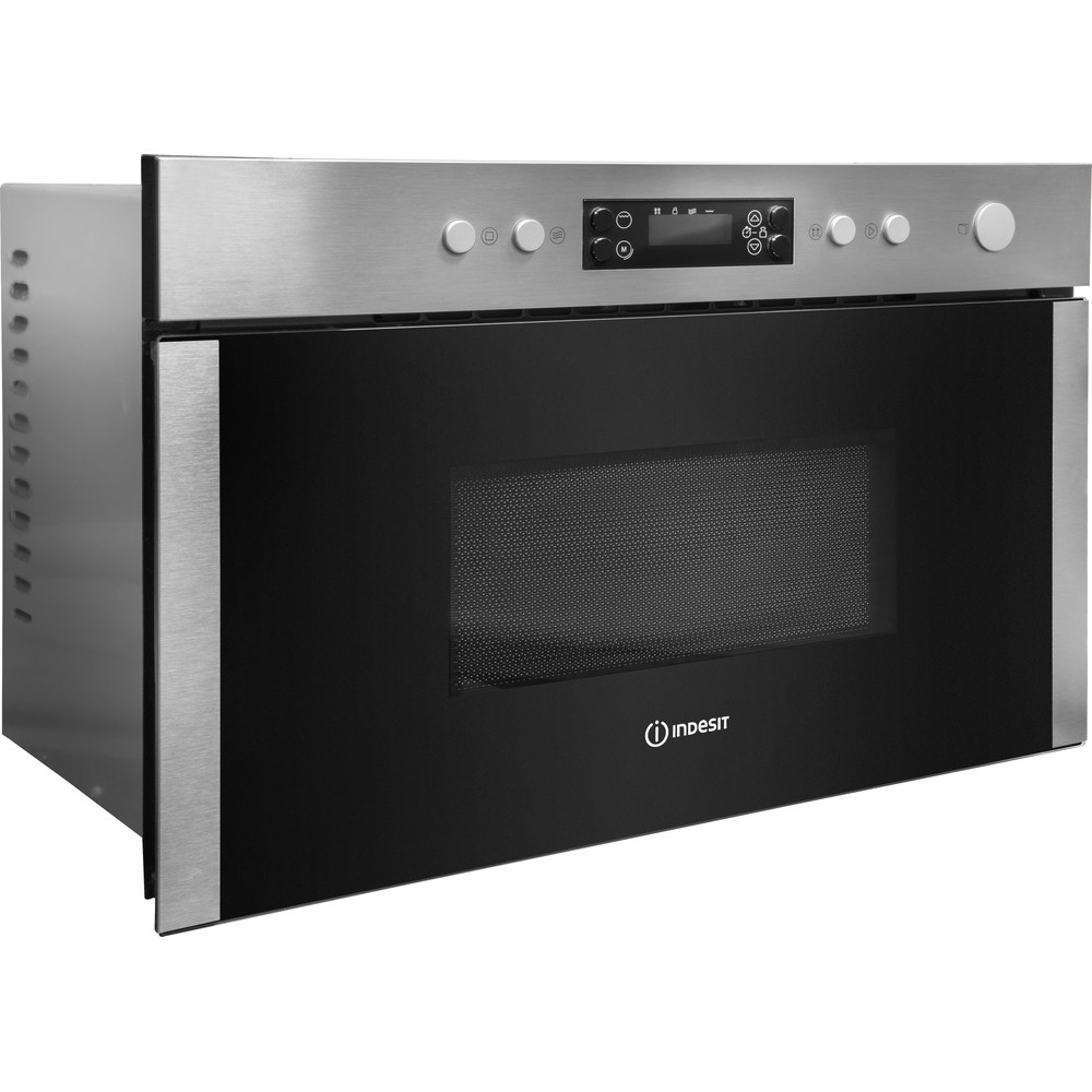 Indesit Microwave Built-in MWI 5213 IX UK Inox Electronic 22 MW+Grill function 750 Perspective