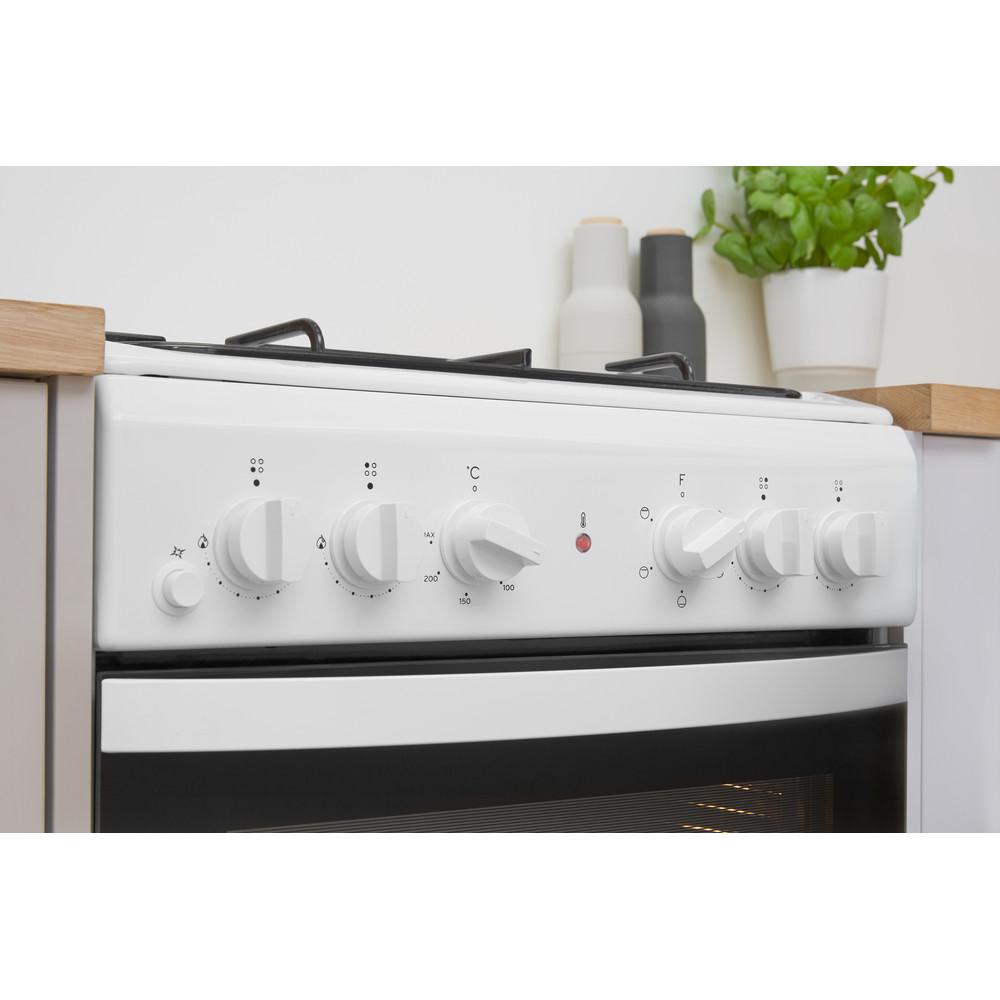 Indesit Tűzhely IS5G4KHW/E Fehér Gáz Lifestyle control panel