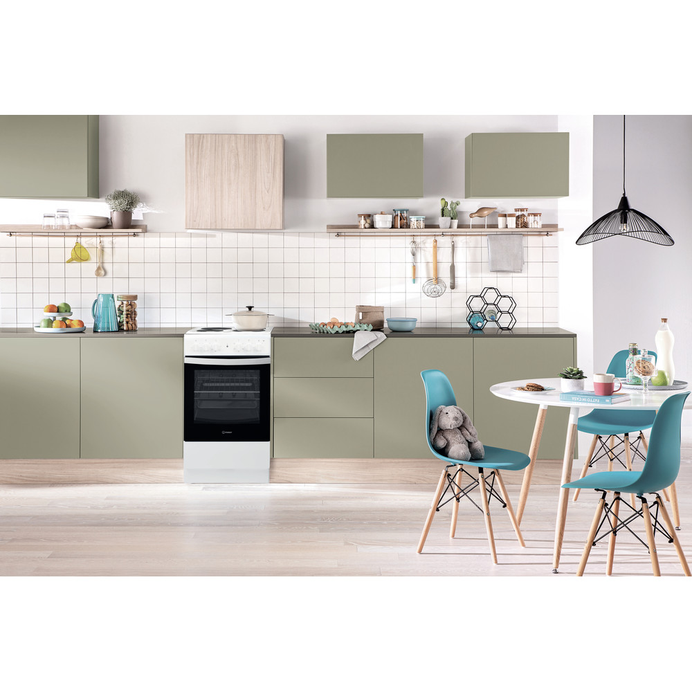 Indesit Готварска печка IS5E4KHW/EU Бял Electrical Lifestyle frontal