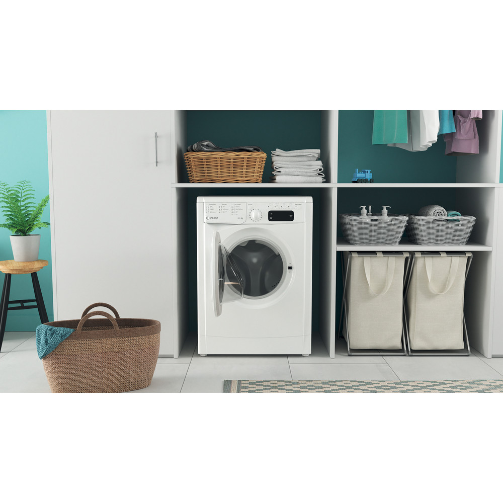 Indesit Washer dryer Free-standing IWDD 75125 UK N White Front loader Lifestyle frontal open