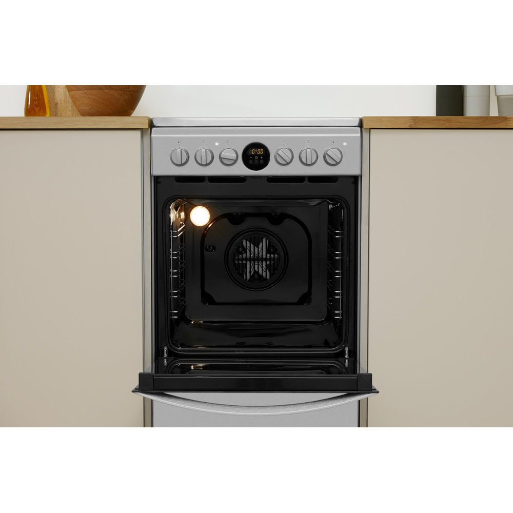 Indesit šporet IS5V5CCX/EU Inox Electrical Lifestyle frontal open