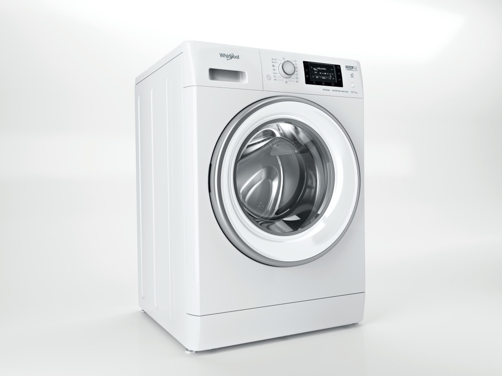 Whirlpool Kuivaava pesukone Vapaasti sijoitettava FWDD 1071682 WSV EU N Valkoinen Edestä täytettävä Perspective
