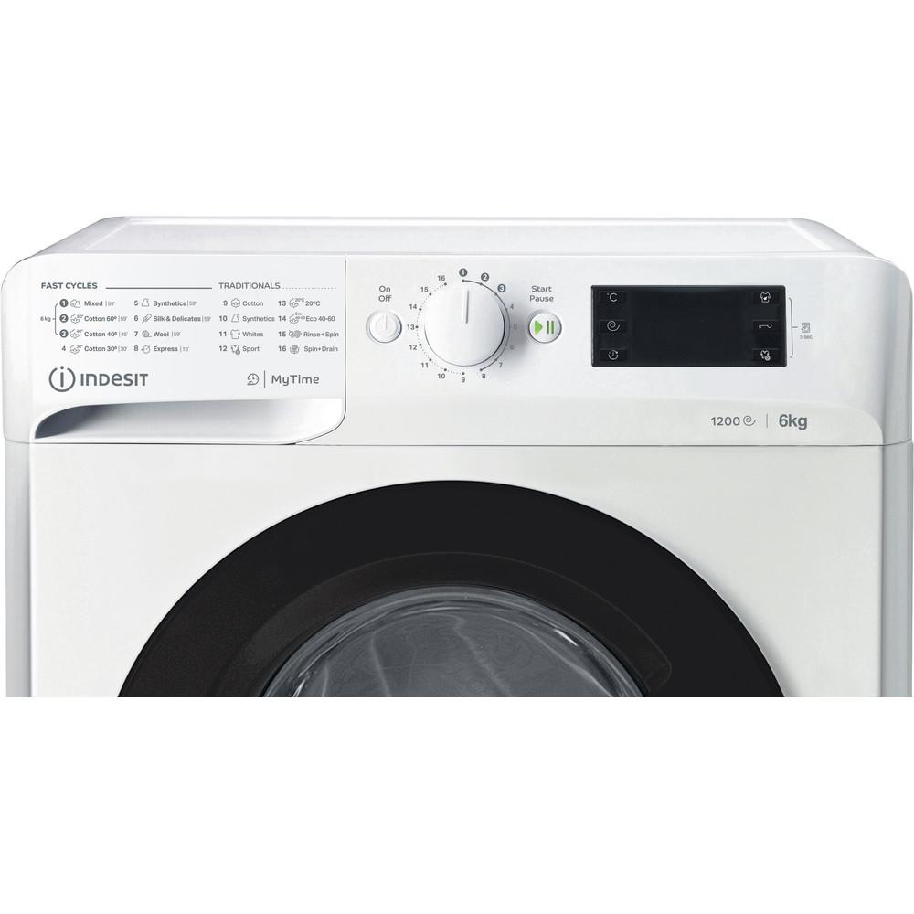Indsit Maşină de spălat rufe Independent MTWSE 61252 WK EE Alb Încărcare frontală F Control panel