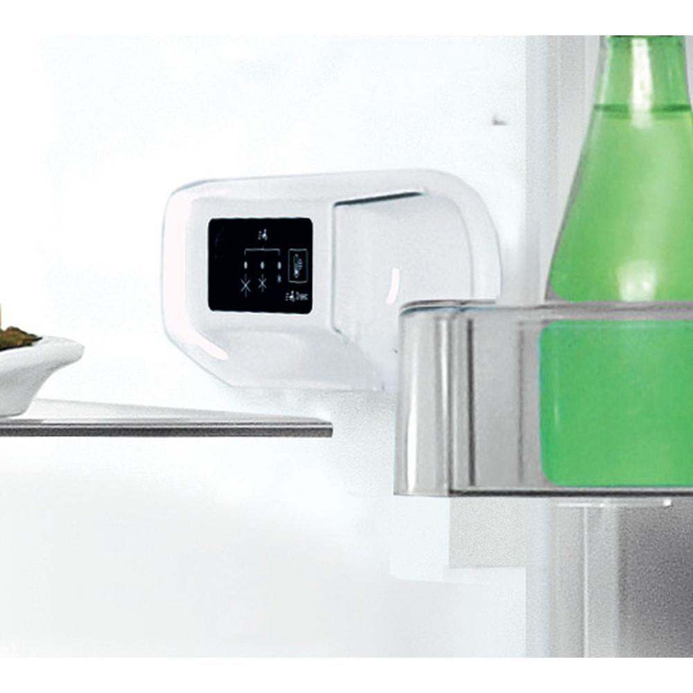 Indesit Lodówka z zamrażarką Wolnostojące LI9 S2E W Biały Dwudrzwiow(y)a Lifestyle control panel