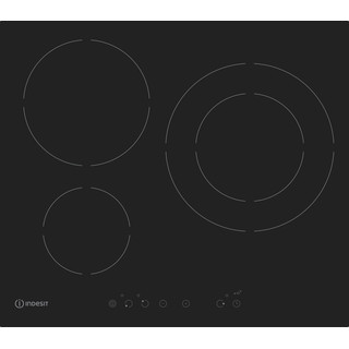 Indesit Encimera IVIA 630 L D C Negro Induction vitroceramic Frontal
