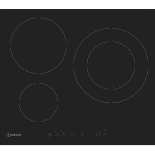 Indesit Table de cuisson IVIA 630 L D C Noir Induction vitroceramic Frontal