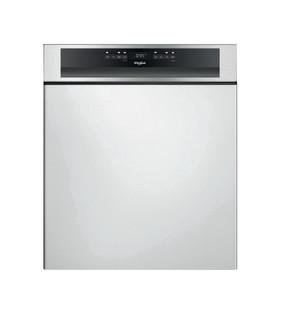 Whirlpool félig integrált mosogatógép: Inox szín, normál méretű - WBO 3O33 PL X