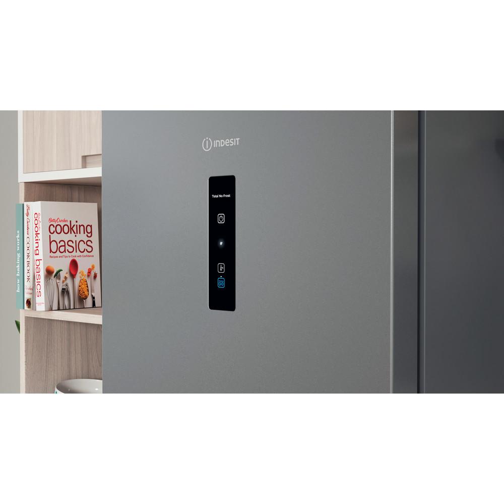 Indesit Холодильник з нижньою морозильною камерою. Соло ITI 5181 S UA Сріблястий 2 двері Lifestyle control panel