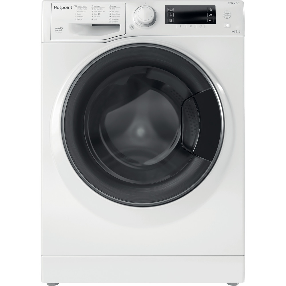 Hotpoint Washer dryer Free-standing RD 1076 JD UK N White Front loader Frontal