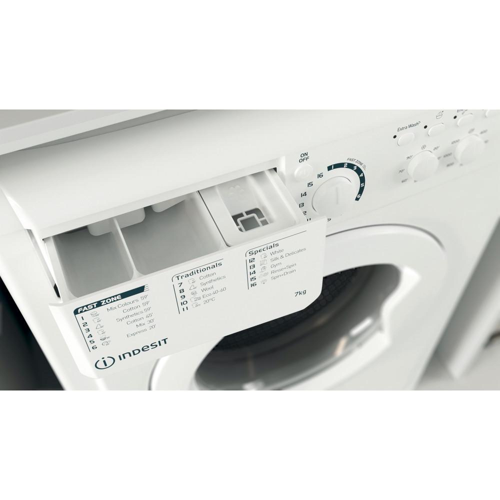 Indesit Перална машина Свободностоящи EWC 71252 W EE N Бял Предно зареждане E Drawer