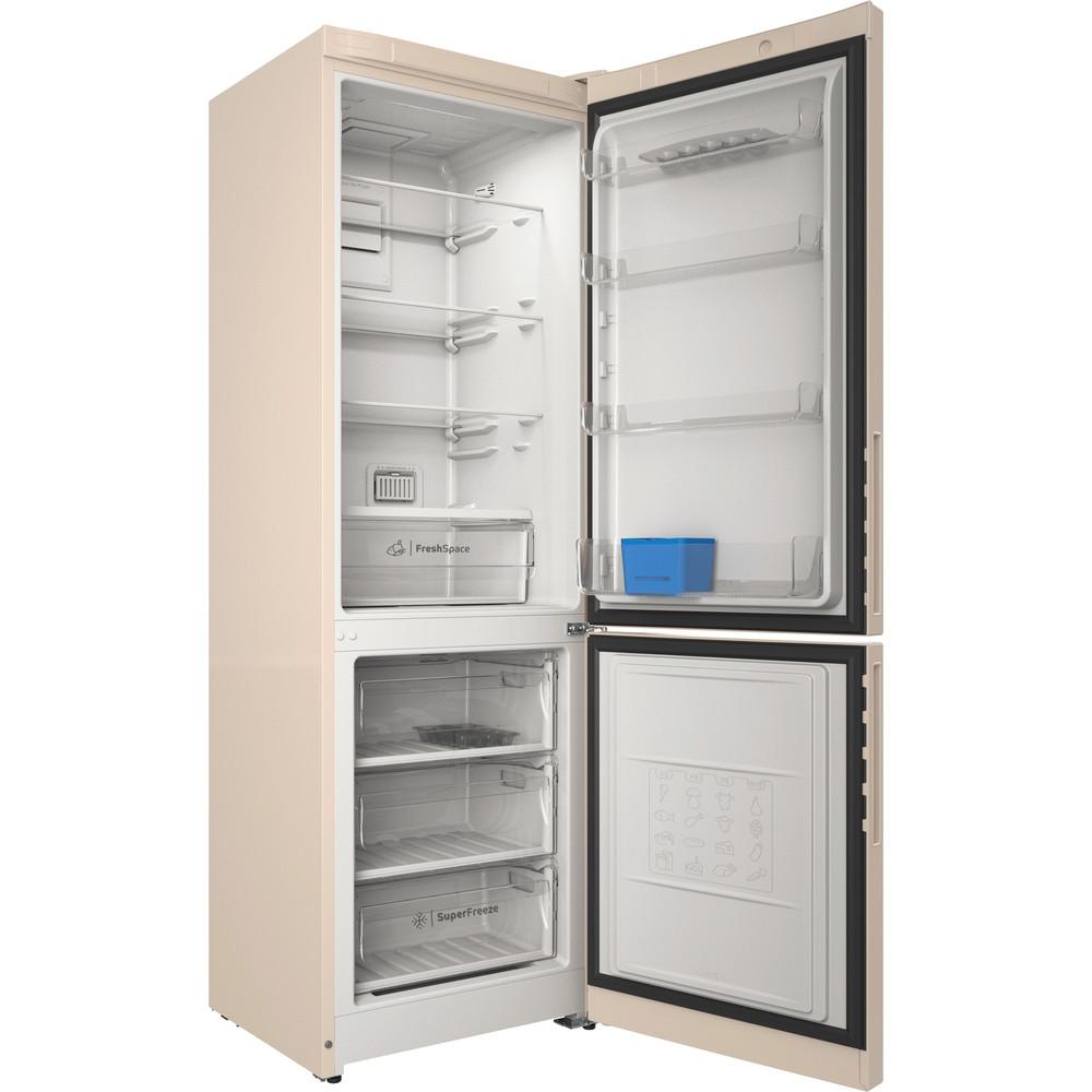 Indesit Холодильник с морозильной камерой Отдельностоящий ITR 5180 E Розово-белый 2 doors Perspective open