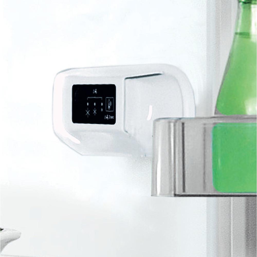 Indesit Réfrigérateur combiné Pose-libre LI8 S2E S Argent 2 portes Control panel