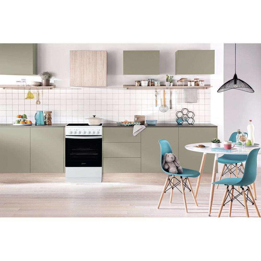 Indesit Cocina IS5V4PHW/E Blanco Electrical Lifestyle frontal