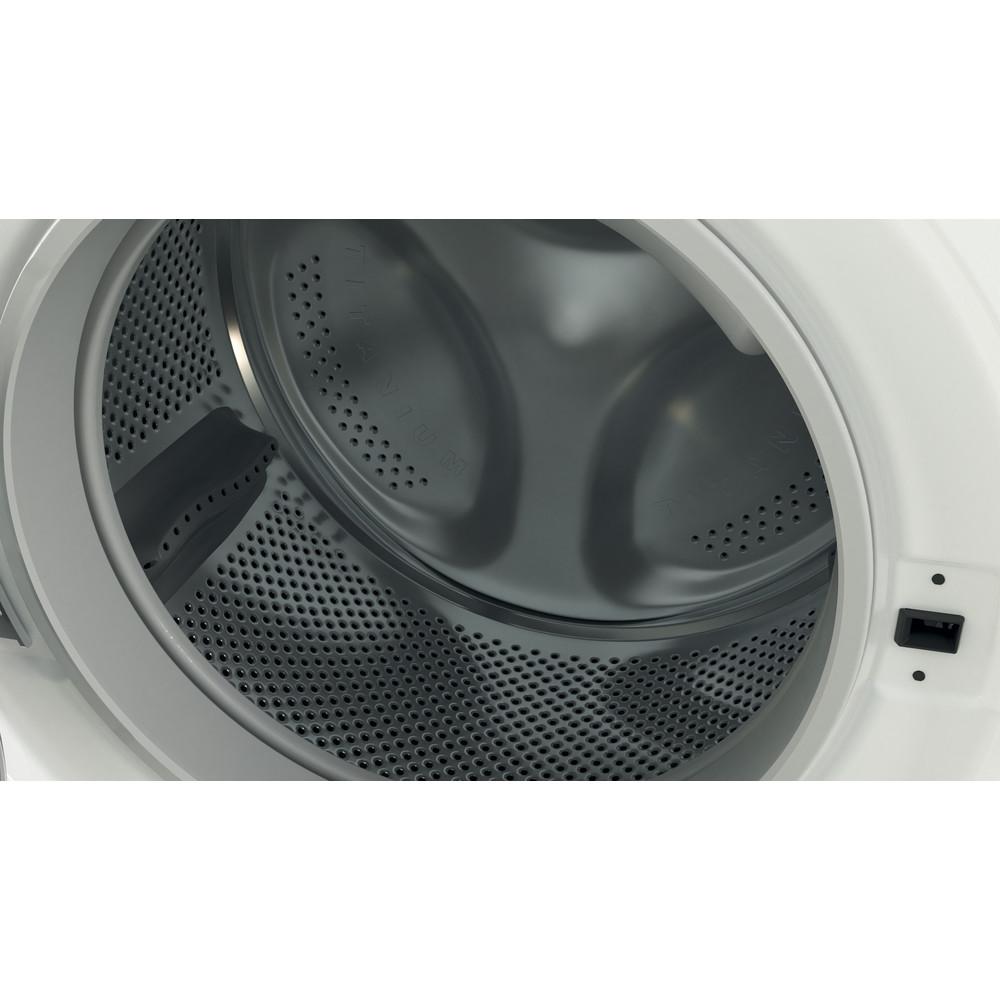 Indesit Kombineret vaskemaskine/tørretumbler Fritstående BDE 861483X WS EU N Hvid Frontbetjent Drum