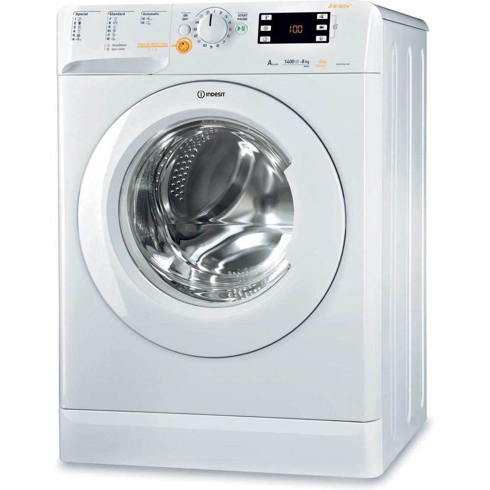 Indesit Стиральная машина с сушкой Отдельностоящий XWDE 861480X W EU Белый Фронтальная загрузка Perspective