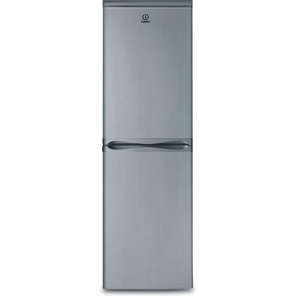 Indesit Комбиниран хладилник с камера Свободностоящи CAA 55 NX Инокс 2 врати Frontal