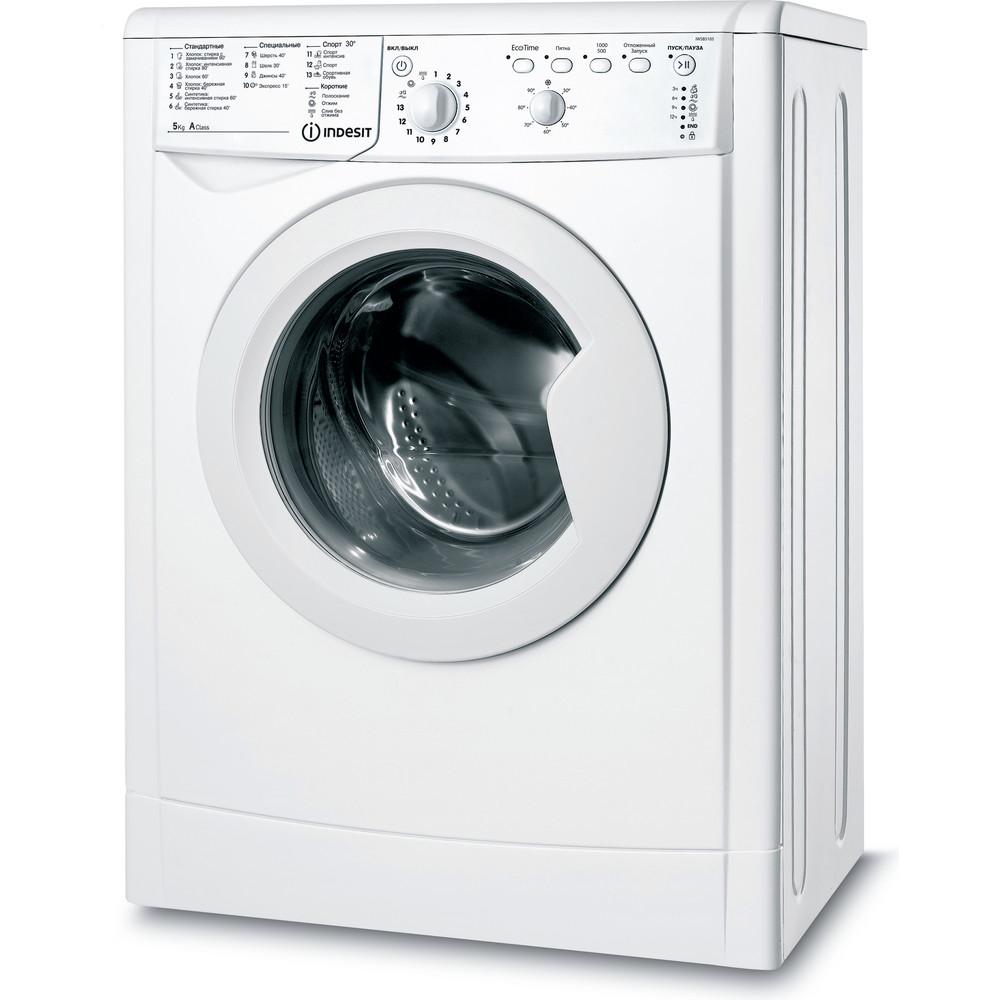Indesit Стиральная машина Отдельностоящий IWSB 5105 (CIS) Белый Фронтальная загрузка A Perspective