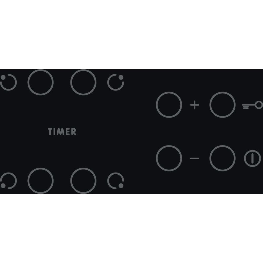 Indesit Piano cottura AAR 160 C Nero Radiant vitroceramic Control panel