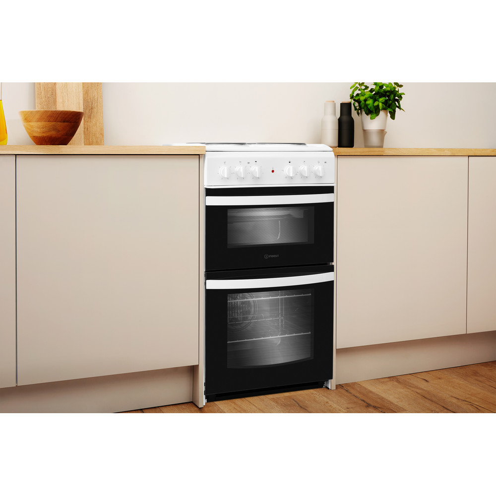 Indesit Double Cooker ID5E92KMW/UK White A Enamelled Sheetmetal Lifestyle perspective
