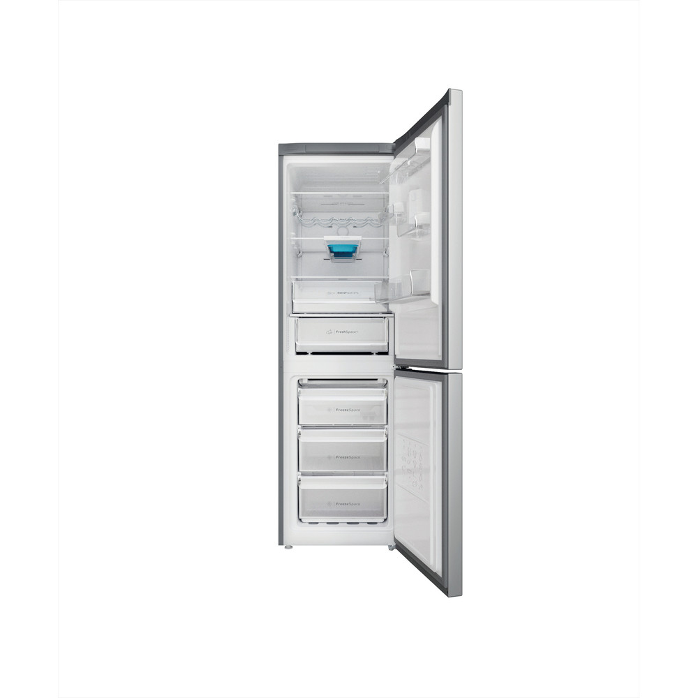 Indesit Kombinovaná chladnička s mrazničkou Voľne stojace INFC8 TO32X Nerezová 2 doors Frontal open