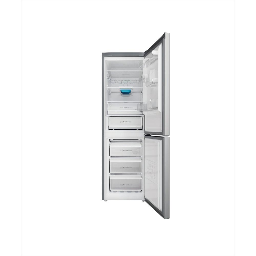 Indesit Combinazione Frigorifero/Congelatore A libera installazione INFC8 TO32X Inox 2 porte Frontal open
