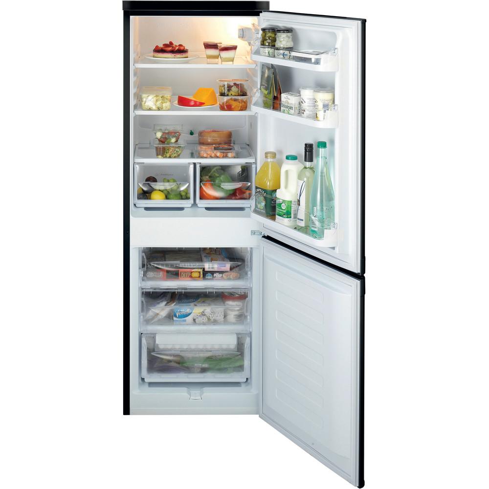 Indesit Fridge-Freezer Combination Free-standing IBD 5515 B 1 Black 2 doors Frontal open