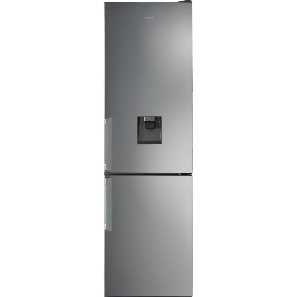 Hotpoint Fridge Freezer Free-standing H7T 911A MX H AQUA 1 Mirror/Inox 2 doors Frontal