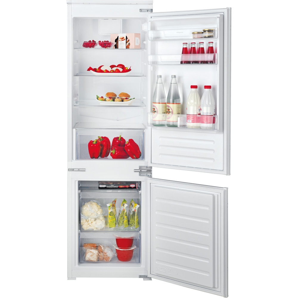 Hotpoint Fridge Freezer Built-in HMCB 70301 UK White 2 doors Frontal open