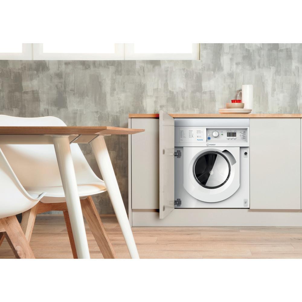 Indesit Washer dryer Built-in BI WDIL 7125 UK White Front loader Lifestyle frontal