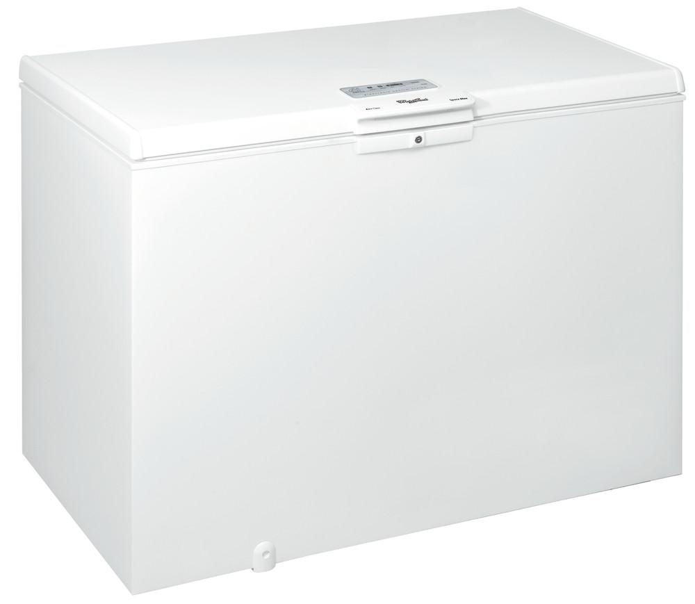 Whirlpool Pakastimessa Vapaasti sijoitettava WHE3933 FO Valkoinen Perspective